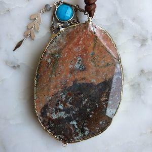 Chan Luu Jewelry - Chan Luu Stone Turquoise Boho Pendant Necklace